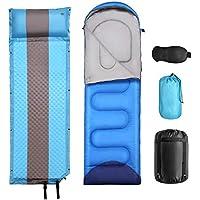 ODOLAND - Saco de Dormir Impermeable con reposabrazos y sección Ajustable para el pie, Comodidad