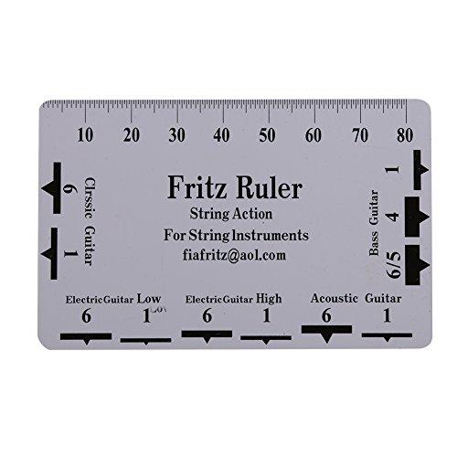 Dilwe Chitarra String Azione Calibro Righello, Pezzi Doppio Chitarra Tastiera in Palissandro Strumento di misurazione con Stampa Clean per Chitarra/Basso