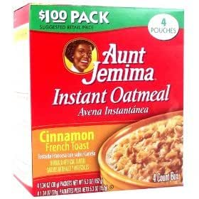 Aunt Jemima Instant Oatmeal Cinnamon French Toast 5.3OZ (152g)