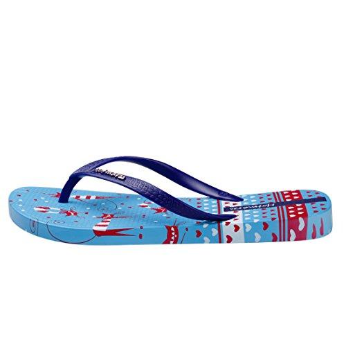 Hotmarzz Infradito Donna Gatto Animali Estate Spiaggia Piscina Sandali Flip Flops Blu