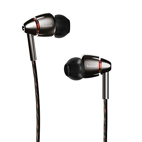 1MORE E1010 Quad-driver Hi-Fi Kopfhörer In-Ear Ohrhörer Hi-Res Audio mit Mikrofon und Fernbedienung Kompatibel mit iOS und Android