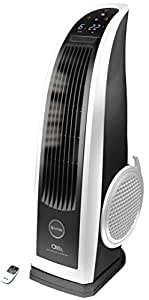 VITEK High Velocity 120-Watt & 90° Rotating Tower Fan with Remote Control & Touch Panel (Black & White)