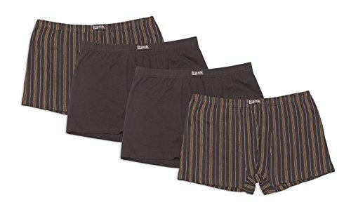 Herren Retro-Pants aus Baumwolljersey, Pants für Männer, Shorts Herren, 4er Pack von Größe 5/M bis14/6XL - Frank Fields, Farbe:anthrazit, Größe:9