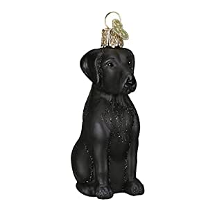 Old World Christmas Black Labrador Glass Blown Ornament by Old World Christmas