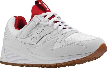 SAUCONY scarpe uomo sneaker basse S70286-5 GRID 8500 White Red