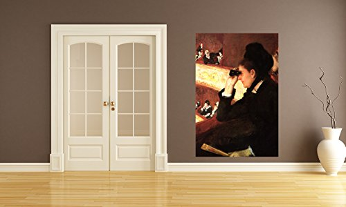 Vlies Fototapete Mary Cassatt - Alte Meister - In der Oper - 60x90 cm - inklusive Kleister - Tapetenkleister – Bild auf Tapete – Bildtapete – Foto auf Tapeten – - Home-theater Boston