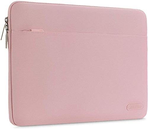 MOSISO Tasche Sleeve Hülle Kompatibel 13-13,3 Zoll MacBook Pro, MacBook Air, Notebook Polyester Gewebe schützende Horizontal Laptophülle Schutzhülle Laptoptasche Notebooktasche, Pink
