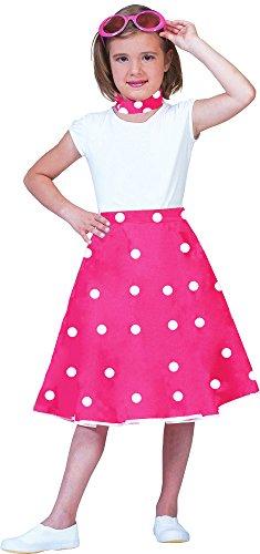 uch für Kinder Pink Weiß Gr. 128 (60er Kostüme Für Kinder)