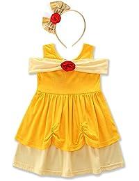 FYMNSI Bambini Ragazza Carnevale Costume Vestito Bambino Mickey Belle  Sirena Biancaneve Principessa Cosplay Tutu Senza Maniche 6f102dbe5907
