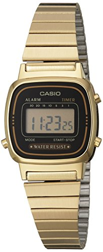 Casio Damen-Armbanduhr Digital Quarz LA670WGA-1DF - Uhren Gold Frauen Casio