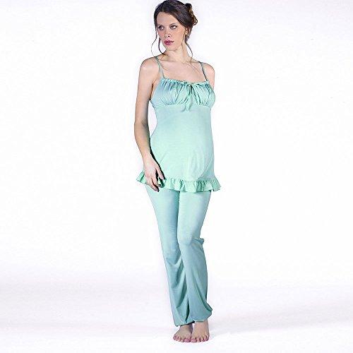 Cache Coeur Delicious - Ensemble De Pyjama Maternité - Femme Turquoise (Celadon)
