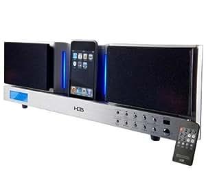 H&B IP55i Station d'accueil pour iPod / iPhone Radio Réveil Ecran LCD 35W GRIS