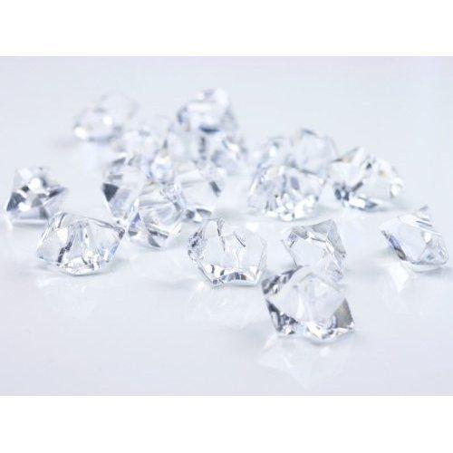 BUDILA® Dekosteine Dekoeis klar Eis Optik 150 Stück Acryl Tischdekoration für Hochzeit