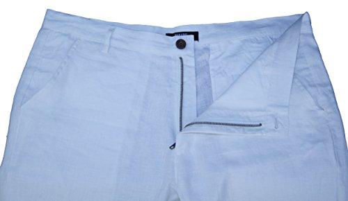 MLP010 PERANO Herren Leinen Hose Slim Fit. Weiß