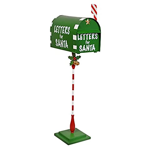Design Toscano Letters for Santa Metal Holiday Mailbox, Multi-color, 20.5x35.5x86.5 cm