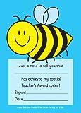 A6 Praise pad: bee: 50 Teacher's Award reward notes
