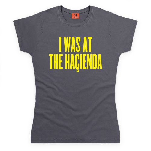 Happy Mondays Hacienda T-Shirt, Damen Anthrazit