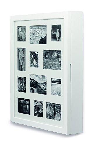 My Home Armario para Joyas, Color Blanco, con Marco Frontal para 12 imágenes