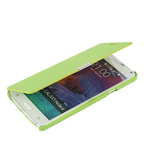 MTRONX für Samsung Galaxy Note 4 Hülle, Case Cover Schutzhülle Tasche Etui Klapphülle Magnetisch Dünn Leder Folio Flip für Samsung Galaxy Note 4 N9100 - Grün(MG-GN)