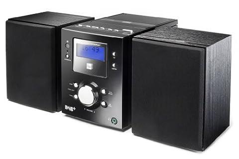 Dual DAB 500 Digitalradio Stereoanlage (DAB, DAB+, UKW Radio, Senderspeicher, Kopfhöreranschluss, Fernbedienung, CD) Schwarz