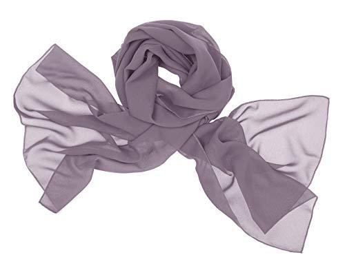 bridesmay Chiffon Stola Schal Scarves für Kleider in Verschiedenen Farben Grey S