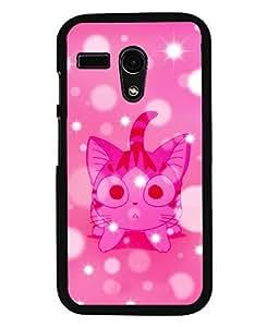Fuson 2D Printed Cat Designer back case cover for Motorola Moto G - D4563