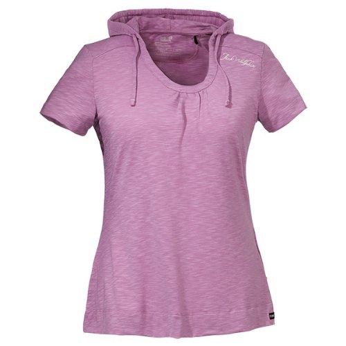 Jack Wolfskin Damen Shirt Travel Hoody T Women Soft Violet