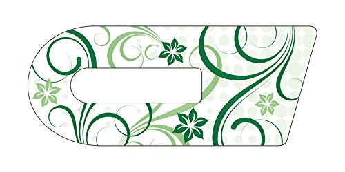 Aufkleber für Cook-Key®   Selbstklebender Sticker exakt passend für Thermomix TM5 Cook-Key   Motiv: Schnörkel