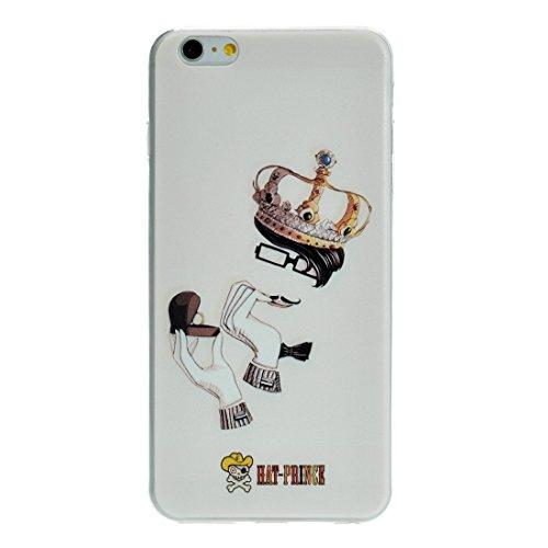 Phone case & Hülle Für IPhone 6 / 6s, Kreatives Charakter Muster Weiß TPU Schutzhülle ( SKU : S-IP6G-7102J ) S-IP6G-7102K
