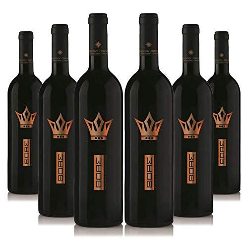 Vin d' Thoas (6 x 750ml) Bio edel Rotwein halbsüß | Sortenrein Capernet Sauvignon & Limnio | Aus kontrolliert biologischem Landbau auf vulkanischem Boden | Naturreiner Restsüße - Premium Qualität