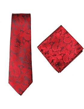 Para hombre formal Premium Tie pañuelo 100% Seda Almohada de algodón Paisley cuadrados de bolsillo boda/Handkercief...