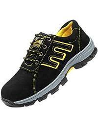 Hombre Ultra Ligeros Botas Transpirables Zapatillas De Deporte De Malla,Puntera De Acero Zapato Deportivo De Seguridad