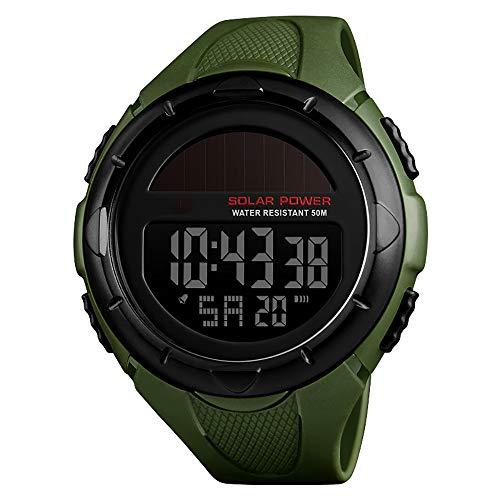 ZUZEN Herrenuhren Top Luxusmarke Chrono Countdown Männer LED Digital Sportuhren Für Männliche Uhr Relogio Masculino,Green