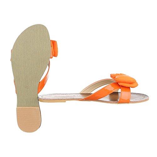 Pantoletten Damenschuhe Jazz & Modern Blockabsatz Blockabsatz Ital-Design Sandalen / Sandaletten Orange