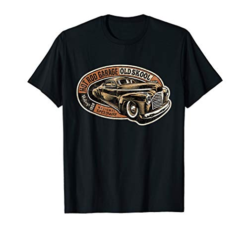Hot Rod Garage (Für den Old Skool Auto Fan: Hot Rod Garage T-Shirt)