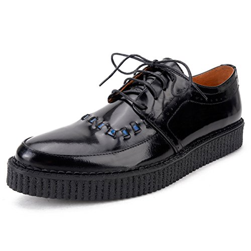 Herren Leder Schnürsenkel Oxfords Brogues Platform Creepers Schuhe Size43