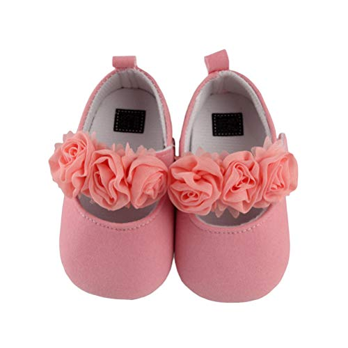 9f03ee106bce 1Pair Kids Spring Autumn Rose Flower Soft Slip Toddler Shoes Baby ...