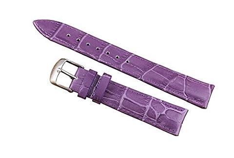 Bracelet en cuir en dentelle exotique pourpre 16mm premium en