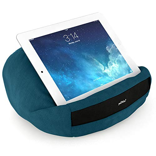 padRelax® Casual Petrol Halter für eBook-Reader und Tablets bis 10.5 Zoll, Made in Germany, für Bett, Sofa, Tisch und kompatibel mit jedem Apple iPad, kompatibel mit Samsung Galaxy Tab