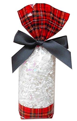 Jaffa Imports Ltd 50 x Klar Zellophan Block Boden Party süß Süßigkeiten Behandeln Taschen (Klein - 56x37x220mm) - Tartan