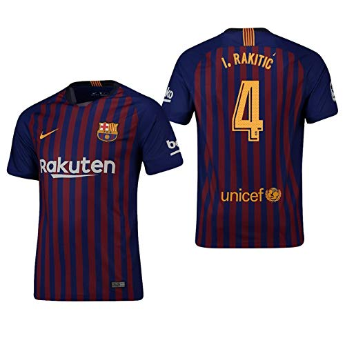 F.C. Barcelona Trikot Kinder 2018-2019 Home - Rakitic 4 (128)