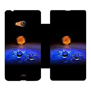 Skintice Designer Flip Cover with Vinyl wrap-around for Microsoft Lumia 540, Design - Earth