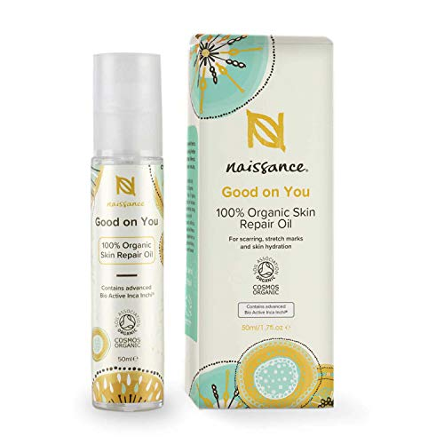 """Naissance """"Good on You"""" Skin Repair Oil - 100% biologisches Öl zur Hautreparatur 50ml - Glasflasche - natürliches, regenerierendes Bio-Hautpflegeöl gegen Falten, Narben, Dehnungsstreifen"""