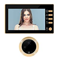 DYHM Smart doorbell Digital Peephole Door Bell Wireless Call Video-eye 4.3 Inch Night Vision 3 Modes Video Recording Photos Taking