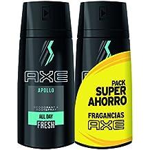 AXE Desodorante Apollo Duplo Ahorro - 1 Paquete de 2 x 150 ml: Total: 300 ml