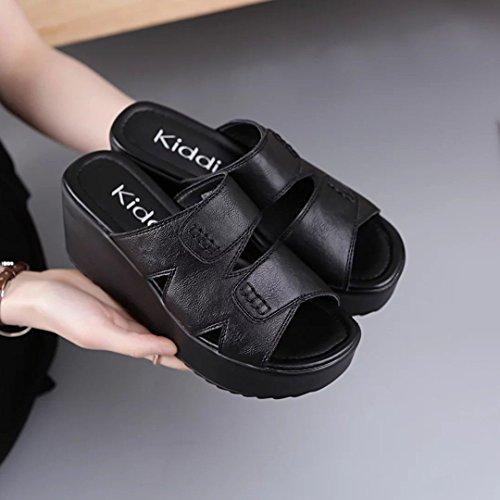 ZYUSHIZ Ding ziehen Hausschuhe Sandalen Strand Outdoor der minimalistischen Stil Koreanische Version 35EU