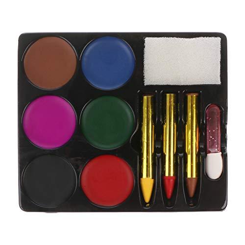 6 Farben Gesicht Körper Farbe Palette Set Halloween Make-up Ungiftig Wasser Farbe öl Weihnachten Party Dress Primer