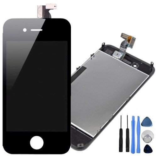 chirm und Display Digitizer Montage Ersatz für iPhone 4S Schwarz ()
