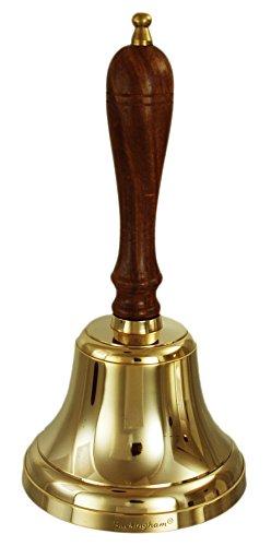 Buckingham Solide à la Main Bell Table, Bell, Bell, à l'école de réception Bell, Last Order Bibliothèque de Bell, Bell, pub Bell – 13 cm, Laiton