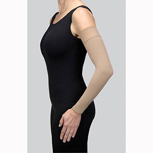 BSN Medical/Jobst 102397 Bella Strong und Stulpenarmmanschette mit Silikonband, 30-40 MMHG, Schwarz, lang, Größe 7 -